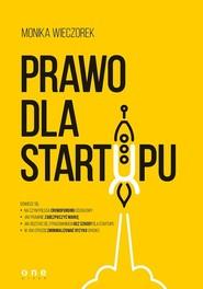 okładka Prawo dla startupu, Książka | Wieczorek Monika