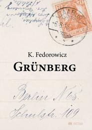 okładka Grunberg, Książka | Fedorowicz Krzysztof