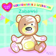 okładka Kolorowanka z brokatem Zabawki, Książka   Ola (ilustracje) Makowska