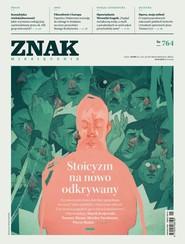 okładka ZNAK 764 01/2019: Stoicyzm na nowo odkrywany, Książka |