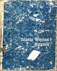okładka Notatnik, Książka | Więcław Jolanta