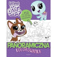 okładka Littlest Pet Shop Panoramiczna kolorowanka, Książka |