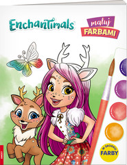 okładka Enchantimals Maluj farbami, Książka |