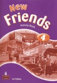 okładka New Friends 4 Activity Book Szkoła podstawowa, Książka | Kilbey Liz