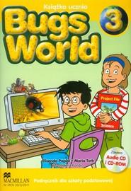 okładka Bugs World 3 Podręcznik z płytą CD Szkoła podstawowa, Książka | Elisenda Papiol, Maria Toth, Magdalena Kondro