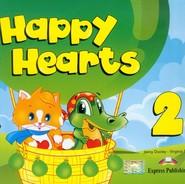 okładka Happy Hearts 2 Pupil's Book z płytą CD, Książka | Jenny Dooley, Virginia Evans