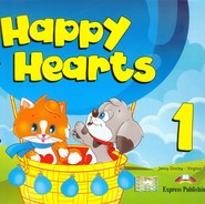 okładka Happy Hearts 1 Pupil's Book z płytą CD, Książka | Jenny Evans Virginia Dooley