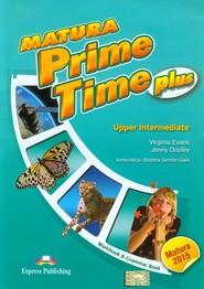 okładka Matura Prime Time Plus Upper Intermediate Workbook and Grammar Book Szkoła ponadgimnazjalna, Książka | Virginia Evans, Jenny Dooley