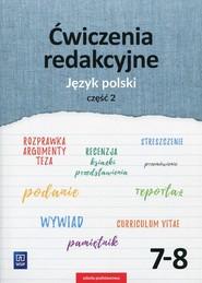 okładka Ćwiczenia redakcyjne 7-8 Język polski Część 2 Szkoła podstawowa, Książka | Beata Surdej, Andrzej Surdej