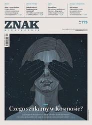 okładka ZNAK 773 10/2019: Czego szukamy w Kosmosie?, Książka  