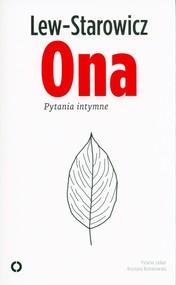 okładka Ona Pytania intymne, Książka | Zbigniew Lew-Starowicz