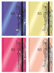 okładka Terminarz wyjątkowej dziewczyny 2021 mix kolorów, Książka |