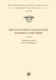okładka Drogi duchowe katolicyzmu polskiego XVII wieku (t. VII), Książka |