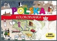 okładka Polska Kolorowanka 240 naklejek, Książka |