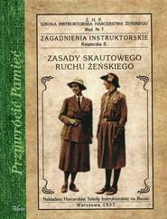 okładka Zasady skautowego ruchu żeńskiego, Książka  