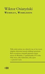 okładka Wembley Wimbledon, Książka | Wiktor Osiatyński