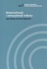 okładka Materialność i sensualność tekstu, Książka | Magdalena Abramczyk, al. et