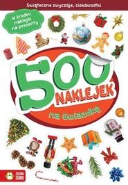 okładka 500 naklejek na Gwiazdkę, Książka | Supeł Barbara