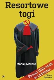 okładka Resortowe togi, Książka | Maciej Marosz