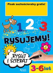 okładka 1...2...3... Rysujemy!, Książka   Makowska Ola