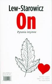 okładka On Pytania intymne / Ona Pytania intymne, Książka | Zbigniew Lew-Starowicz