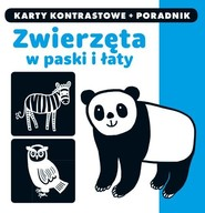 okładka Kapitan Nauka Zwierzęta w paski i łaty Karty kontrastowe + poradnik, Książka |