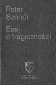 okładka Esej o tragiczności, Książka | Szondi Peter