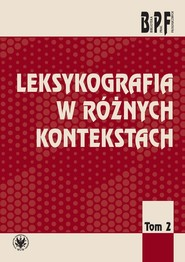okładka Leksykografia w różnych kontekstach, Książka |