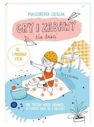 okładka Gry i zabawy dla dzieci, Książka   Małgorzata Cieślak