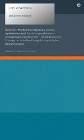 okładka Późne eseje, Książka | John Maxwell Coetzee