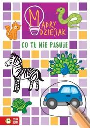 okładka Mądry dzieciak Co tu nie pasuje, Książka | Sarna Katarzyna