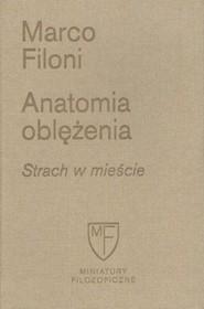 okładka Anatomia oblężenia Strach w mieście, Książka | Filoni Marco
