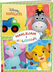 okładka Disney maluch Naklejam i koloruję NAK-9201, Książka |
