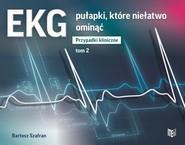 okładka EKG pułapki, które niełatwo ominąć Przypadki kliniczne tom 2, Książka | Bartosz  Szafran