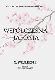 okładka Współczesna Japonia, Książka | Weulersse Georges