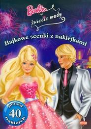 okładka Barbie w świecie mody Bajkowe scenki z naklejkami SC105, Książka |