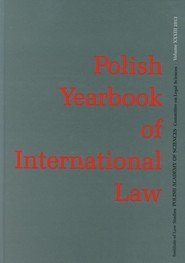 okładka Polish Yearbook of International Law Tom XXXIII, Książka |