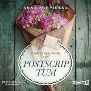 okładka Pamiętaj o mnie. Tom 2. Postscriptum, Audiobook | Anna Karpińska