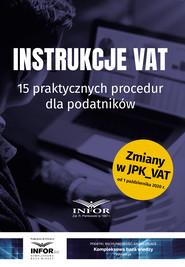 okładka Instrukcje VAT.15 praktycznych procedur dla podatników, Ebook | Praca zbiorowa