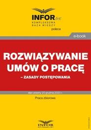 okładka Rozwiązywanie umów o pracę – zasady postępowania, Ebook | Praca zbiorowa