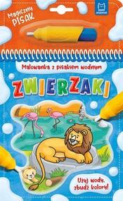 okładka Malowanka z pisakiem wodnym Zwierzaki, Książka |
