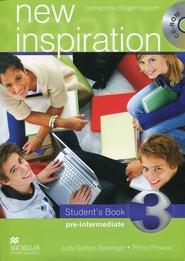 okładka New Inspiration 3 Student's Book Pre-intermediate Podręcznik bez płyty CD, Książka | Judy Prowse Ph Garton-Sprenger