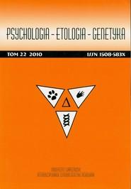 okładka Psychologia Etologia GenetykaTom 22 2010, Książka |