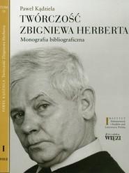 okładka Twórczość Zbigniewa Herberta Tom 1-2 Monografia bibliograficzna. Pakiet, Książka   Kądziela Paweł