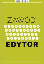 okładka Zawód: Edytor. Minibook, Ebook   autor zbiorowy
