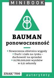 okładka Bauman [ponowoczesność]. Minibook, Ebook | autor zbiorowy