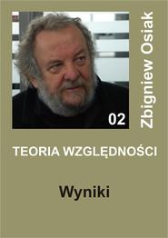 okładka Teoria Względności - Wyniki, Ebook | Zbigniew Osiak