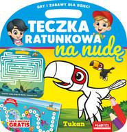 okładka Teczka ratunkowa na nudę z grą Tukan, Książka | Gdula Adam