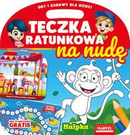 okładka Teczka ratunkowa na nudę z grą Małpka, Książka | Gdula Adam