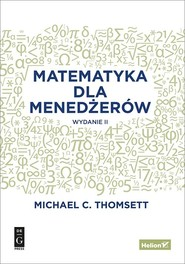 okładka Matematyka dla menedżerów, Książka | Michael C. Thomsett